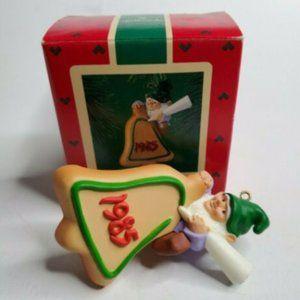 1985 Hallmark Keepsake Ornament Baker Elf